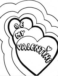 Be My Valentine Heart Coloring Pages