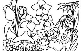 Spring Coloring Pages Printable Funycoloring