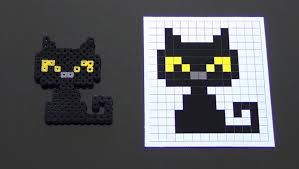 Halloween Hama Bead Patterns by How To Make A Cute Perler Bead Black Cat Youtube