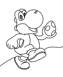 Yoshi Coloring Pages With Egg ColoringStar Within