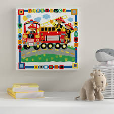 Zoomie Kids 'Firetruck' Graphic Art Print On Wrapped Canvas | Wayfair