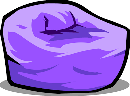 Purple Beanbag Chair Sprite 003