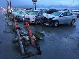 SUV Strikes Taxi, Cars, Light Pole At Anchorage Car Dealership ... Coinental Mazda Volvo Dealership Extech New Diesel Trucks Anchorage Ak 7th And Pattison Auto Mart Used Cars Steel Soldiers Of The Alaska Highway Part One Panic At The On Ram Youtube Certified Volkswagen Dealer Kendall For Sale In Ak On Buyllsearch Simmering Teions Over Food Trucks Daily News Lithia Hyundai Near Eagle Elegant Ford Beautiful Dodge 2007 Caterpillar 740 Ejector Articulated Truck For Sale N C