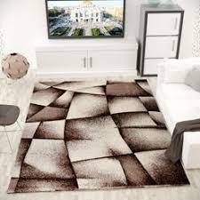 designer teppich wohnzimmer braun beige modern dicht gewebt mit konturenschnitt i9445