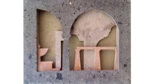 Shell Stone Limestone Tiles Slabs Beige Polished Flooring