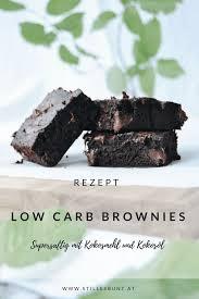 rezept supersaftige low carb kokosmehl brownies stilles