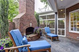 Outdoor Brick Fireplaces With Alluring Outdoor Brick Fireplace