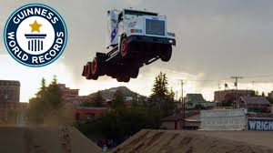 100 Truck Jump Longest Ramp Jump By A Truck Guinness World Records YouTube