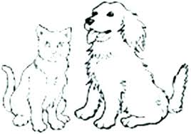Beagle Coloring Pages Pictures Of Cats And Dogs Page Dog Realistic
