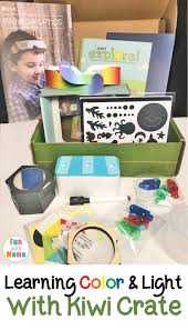 Teaching About Color And Light To Kids With Kiwi Crate Deal Free Onemonth Kiwico Subscription Handson Science 2019 Koala Kiwi Doodle And Tinker Crate Reviews Odds Pens Coupon Code 50 Off First Month Last Day Gentlemans Box Review October 2018 Girl Teaching About Color Light To Kids With A Year Of Boxes Giveaway May 2016 Holiday Fairy Wings My Honest Co Of Monthly Exploring Ultra Violet Wild West February