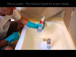 American Bathtub Refinishing Miami by Re Enamel Bathtub Using The Magic Kit Review Youtube