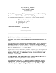 Certificate Of Training-Entry-Level Training | DOT Safety Plus Truck Driving Jobs In El Paso Tx Driver Entrylevel Recurrent Safety Traing Dot Csa Insights Success Ahead Now Hiring Entry Level Jeff Wattenhofer Medium Sample Of Driver Resume For Truck Trucking Entrylevel No Experience Ohio Trucking Best Image Kusaboshicom Tn May Company Uber Is About To Kill A Lot More Mel Magazine Unique 22 Inspirational
