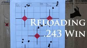 100gr bullet in 243Win load development Reloading for my deer