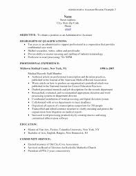 Sample Resume Church Administrative Assistant Unique Awesome 27 Beautiful Graph Medical Receptionist Objectives