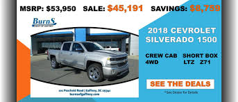 100 Trucks For Sale In Sc Burns Chevrolet Gaffney Dealership Serving Spartanburg Shelby