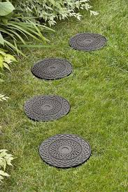 Decorative Rubber Stepping Stones   Buy From Gardener's Supply Garden With Tropical Plants And Stepping Stones Good Time To How Lay Howtos Diy Bystep Itructions For Making Modern Front Yard Designs Ideas Best Design On Pinterest Backyard Japanese Garden Narrow Yard Part 1 Of 4 Outdoor For Gallery Bedrock Landscape Llc Creative Landscaping Idea Small Stone Affordable Path Family Hdyman Walkways Pavers Backyard Stepping Stone Lkway Path Make Your