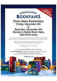 The 2017 Barnes & Noble Book Fair is December 8th & 9th  River