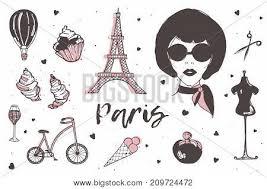 Set Of Paris And France Elements