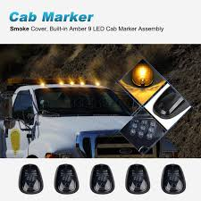 SMOKE 5PCS SET 9-LED Cab Roof Running Marker Lights Fit Truck SUV ... Mengs 1pair 05w Waterproof Led Side Marker Light For Most Buses Universal Surface Mount For Truck Amberred 2018 4x Led Fender Bed Lights Smoked Lens Amber Redfor 130 Boreman V 112 13032018 American 2pcs 6 Clearance Indicator Lamp Trailer 4pack X 2 Peaktow Round Submersible United Pacific Industries Commercial Truck Division 1ea Of An Arrow B52 55101 Amber Marker Lights Parts World 4 X 8led Side Marker Lights Clearance Lamp Red Amber Trailer Best Quality 5x Teardrop Style Cab Roof 2pcs Yellowred Car