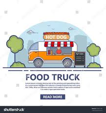 100 Food Truck Websites Trading Hot Dogs Street Cooking Van Fastfood Stock