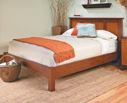 headboard platform bed woodworking plans and information at
