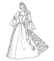 Disney Barbie Doll Princess Coloring Pages