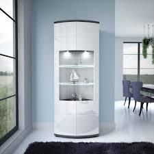 glasgow vitrine wohnwand wohnzimmer weiß hochglanz anthrazit