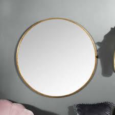 details zu groß rund gold gerahmt wandmontage spiegel vintage chic badezimmer wohnzimmer