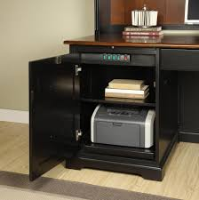 L Shaped Computer Desk With Hutch by L Shape Computer Workstation Desk With Hutch By Riverside