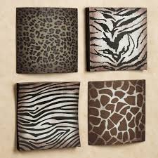 Safari Living Room Decor by Awesome Metal Plate With Animal Skin Pattern Design Popular Home
