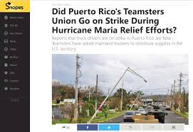 100 Trucking Supplies Teamster Volunteers Deliver Aid To Puerto Rico Teamsters For A