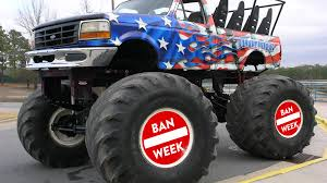 BAN CARS Image 02sthly2017toschoolmonstertruckbash Xmaxx 8s 4wd Brushless Rtr Monster Truck Blue By Traxxas Bad Habit Tries For World Record Jump Does He Make It Supersized Thrills Trucks To Catch Some Serious Air During Amazoncom Hot Wheels Jam Mighty Minis Offroad World Finals Xvii The Field Track And Those To Pro Modified Trigger King Rc Radio Controlled 124 Scale Die Cast Metal Body Bgh43 Diecast Vehicle Walmartcom Pat Gber The Shocker Team Give Back Their Fans Dennis Anderson Trucks Wiki Fandom Powered Wikia Pictures Of Monster Overkill Evolution