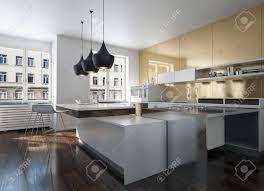 100 Urban Loft Interior Design Modern Design Kitchen Interior With Golden Wall In An Urban Loft