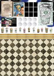 Printable Miniature Starbucks Logo New Diy Coffee Cafe For Dolls No Kit