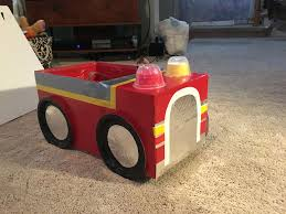 Marshall's Fire Truck Costume! Made Out Of A Diaper Box And A Wipes ...