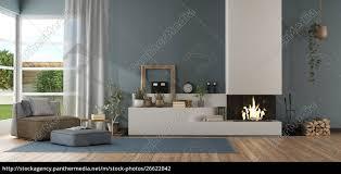 stockfoto 26622042 blaues modernes wohnzimmer mit