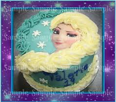 Image is loading Disney Princess Frozen Elsa Braid Face Edible Icing