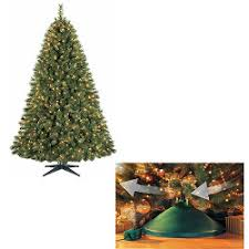 If 1 Burns Out Pre Attached Wrapped Branches For Easy Set Up Sturdy Top Branch Tree Stand Included 2 Year Warranty Green Christmas Model M P140123