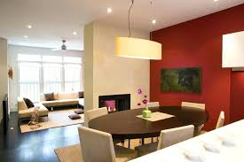 Accent Wall Decor Red Dining Room Fireplace Ideas Contemporary With