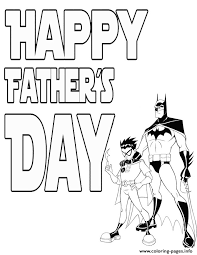 Batman Fathers Day Coloring Pages