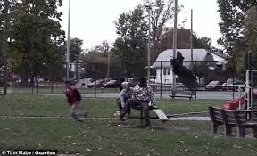 Halloween Scare Pranks 2013 by Prankster Tom Mabe Wreaks Havoc In Park With Remote Controlled