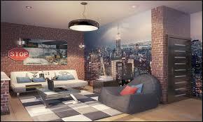 Interesting Decoration City Themed Bedroom Nyc Wallpaper New York