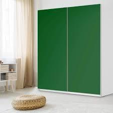 möbelfolie ikea pax schrank 236 cm höhe schiebetür design grün