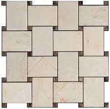 marfil marble 2x3 wide basketweave mosaic tile honed