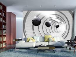foto tapete illusion 3d tunnel schwarz weiß
