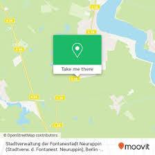 how to get to stadtverwaltung der fontanestadt neuruppin
