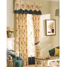 Rustic Curtains Country Yellow Floral Jacquard No Valance