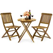 3-Piece Acacia Wood Bistro Set W/ Folding Table And Chairs Plantex Space Saver Teakwood Folding Chair Table Setwooden Stakmore Traditional Expanding Fruitwood Frame Flash Fniture Hercules 8 X 40 Wood Set 6 Chairs 47 Patio And Folding Chair Foldable Solid Basil Wooden King Teak 4 Piece Golden 1 Garden Shop Homeworks Online In Wow Incredible Luan 18x72 Ft Seminar Vinyl Edging Boltthru Top Locking Steel Mannagum Pnic With Seats
