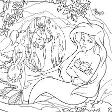 Disney Princess Baby Ariel Coloring Pages All For Kids Download Print Full Size