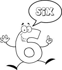 Click To See Printable Version Of Number 6 Says Six Coloring Page